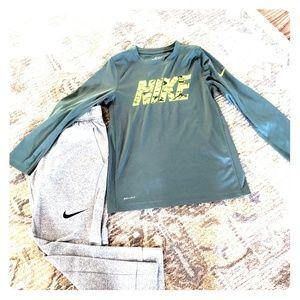 Nike Dri Fit pants with shirt